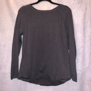 Karen Scott Crew Neck Grey Sweater Size Med